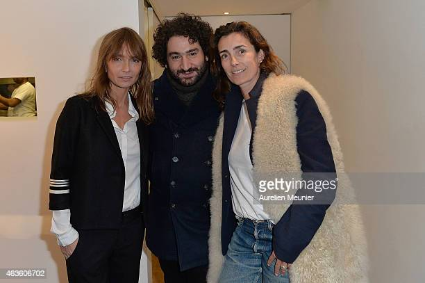 Axelle Laffont Mouloud Achour and Mademoiselle Agnes attend the 'Phantom L'Implosive Sound Center De Devialet' cocktail launch at Colette on February...