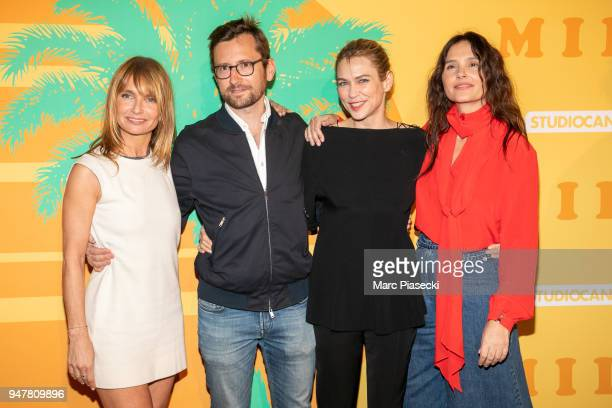 Axelle Laffont producer Julien Madon MarieJosee Croze and Virginie Ledoyen attend the 'MILF' Premiere at Cinema Gaumont Capucine on April 17 2018 in...