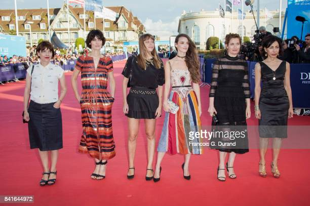 Axelle Ropert Clotilde Hesme Alice Winocour Charlotte Le Bon Emmanuelle Devos and Yasmina Reza arrive at the opening ceremony of the 43rd Deauville...