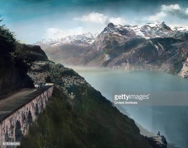 Axenstein at Lake Lucerne in canton Schwyz Switzerland ca 1910s