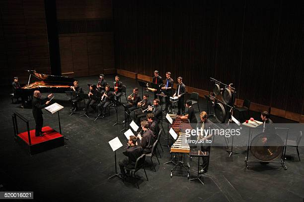 Axiom led by Jeffrey Milarsky performing Messiaen's Oiseaux exotiques at Peter Jay Sharp Theater at the Juilliard School on Friday night October 17...
