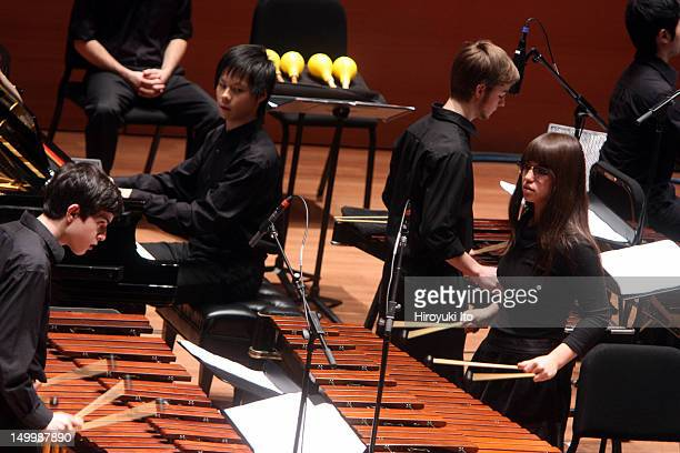 """Axiom performing Steve Reich's """"Music for 18 Musicians"""" at Alice Tully Hall on Thursday night, December 9, 2010.."""