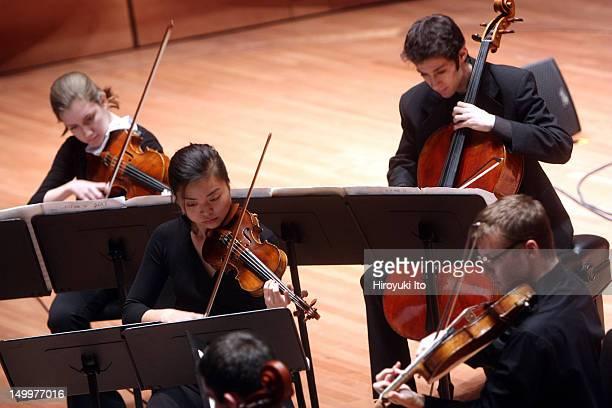"Axiom performing Steve Reich's ""Triple Quartet"" at Alice Tully Hall on Thursday night, December 9, 2010.."