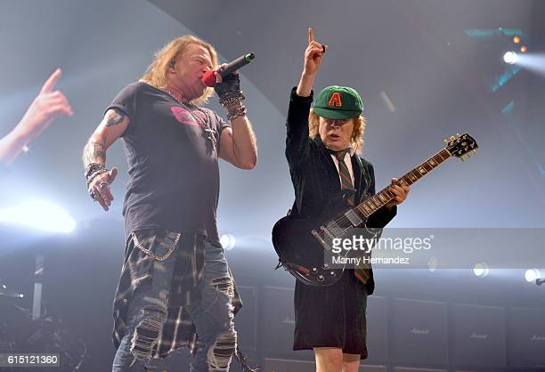 Axl Rose and Angus Young at BBT Center on August 30 2016 in Sunrise Florida