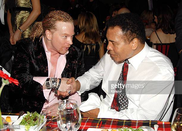 Axl Rose and Muhammad Ali **EXCLUSIVE COVERAGE** during A Funny Thing Happened on the Way to Cure Parkinson's 2006 Benefit for The Michael J Fox...