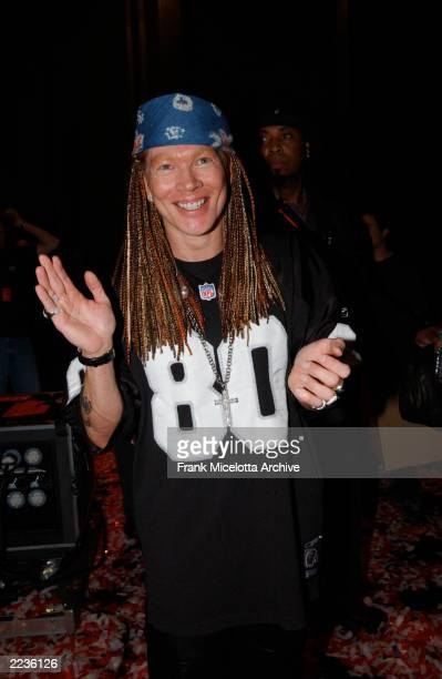 Axl Rose backstage at the 2002 MTV Video Music Awards at Radio City Music Hall in New York City August 29 2002 Photo by Frank Micelotta/ImageDirect