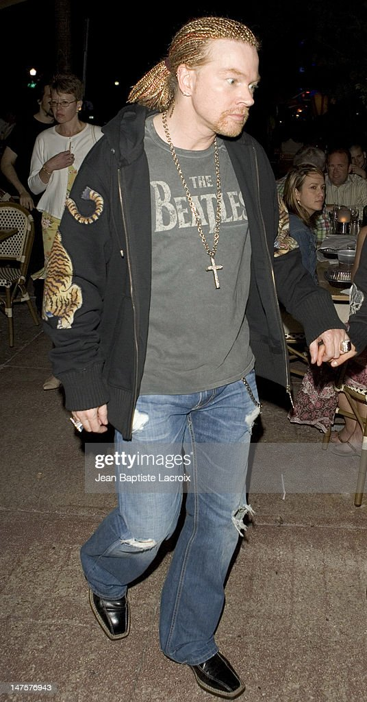 Axl Rose during Axl Rose Sighting on South Beach - October 26, 2006 at Larios on the beach in Miami Beach, Florida, United States.