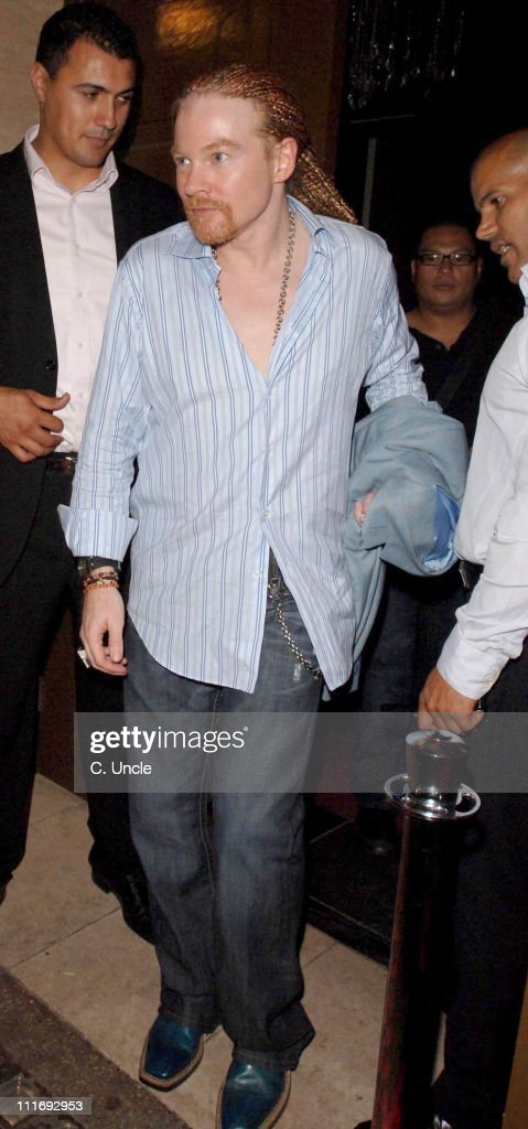 Axl Rose during Celebrity Sightings at the Cuckoo Club - July 26, 2006 in London, Great Britain.