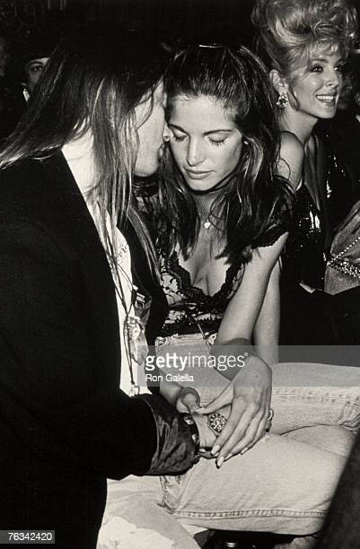 Axl Rose of Guns N' Roses and Stephanie Seymour