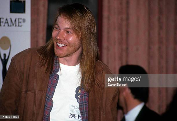 Axl Rose of Guns N' Roses at Rock and Roll Hall of Fame Waldorf Astoria New York January 19 1994