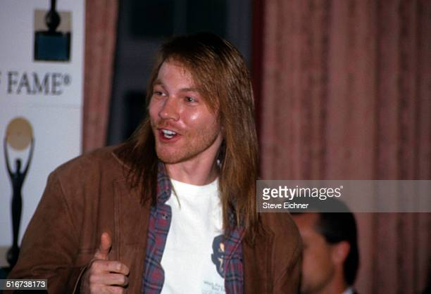 Axl Rose of Guns N' Roses at Rock and Roll Hall of Fame Waldorf Astoria, New York, January 19, 1994.