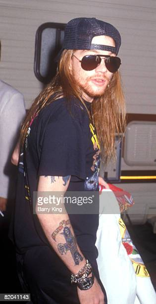 Axl Rose of Guns N' Roses at the MTV Music Awards 1988 file photo