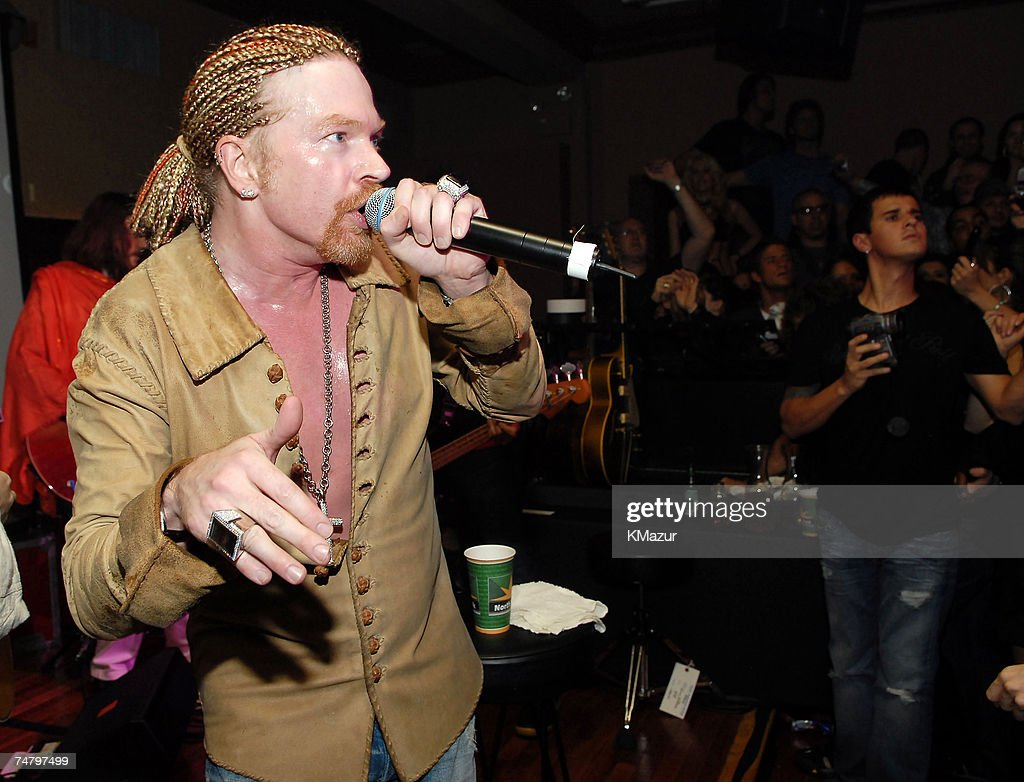 Axl Rose of Guns N' Roses at the The Plumm in New York City