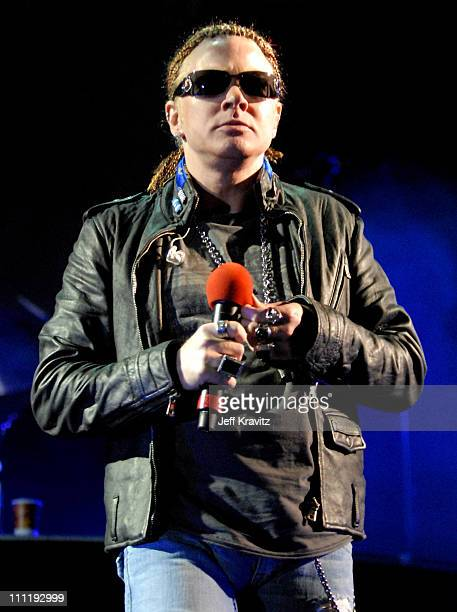 Axl Rose of Guns N' Roses during KROQ Inland Invasion 2006 at Hyundai Pavilion at Glenn Helen in San Bernardino California United States