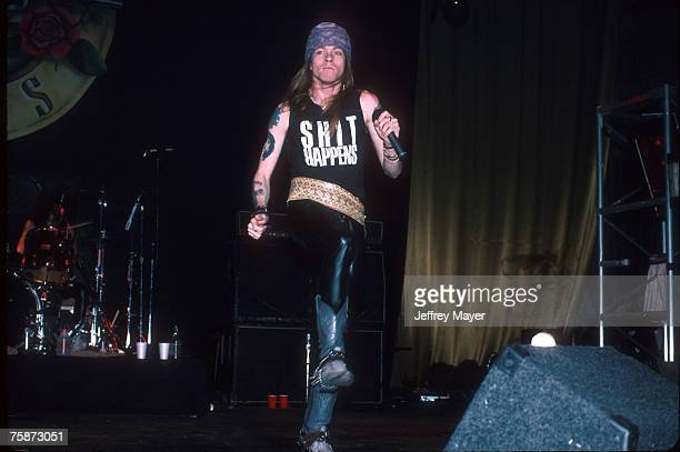 Axl Rose of Guns N' Roses in concert circa 1989