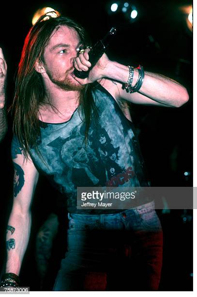 Axl Rose of Guns N' Roses in concert