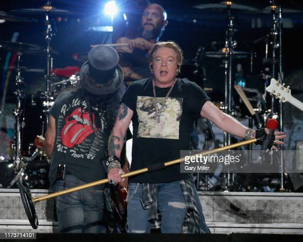 Axl Rose of Guns N' Roses performs in concert during weekend one of the 2019 ACL Fest at Zilker Park on October 4, 2019 in Austin, Texas.