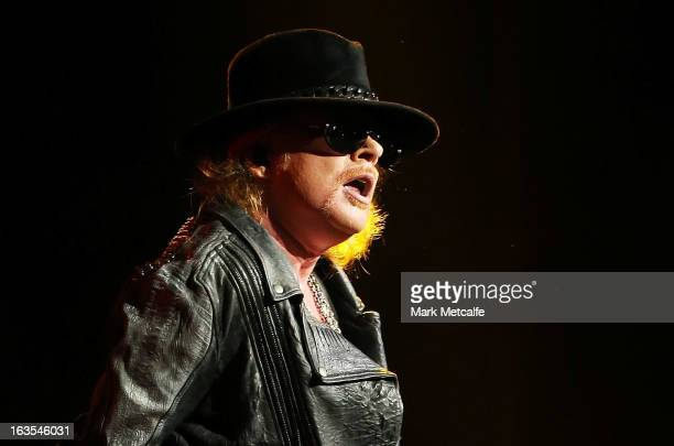 Axl Rose of Guns N' Roses performs live on stage at Allphones Arena on March 12, 2013 in Sydney, Australia.