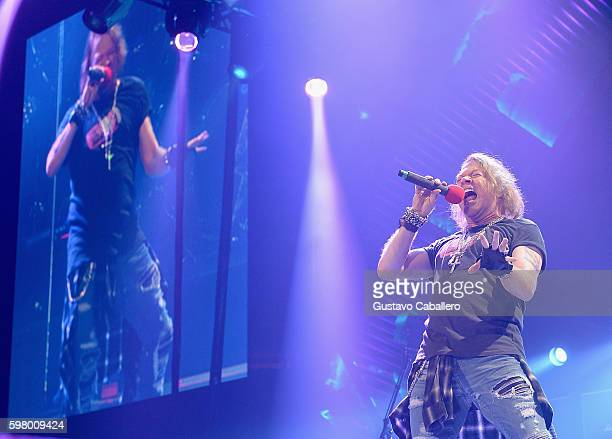 Axl Rose perform onstage at BB&T Center on August 30, 2016 in Sunrise, Florida.