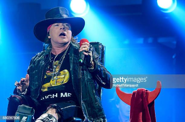 Axl Rose performs with AC/DC on stage on May 10 2016 in Seville Spain