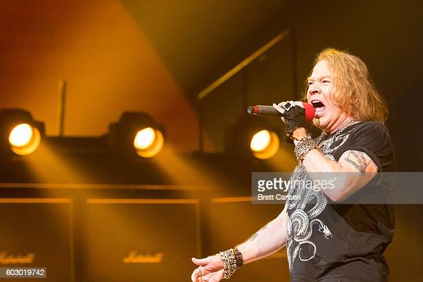 Axl Rose performs with AC/DC on their Rock Or Bust Tour at First Niagara Center on September 11, 2016 in Buffalo, New York.