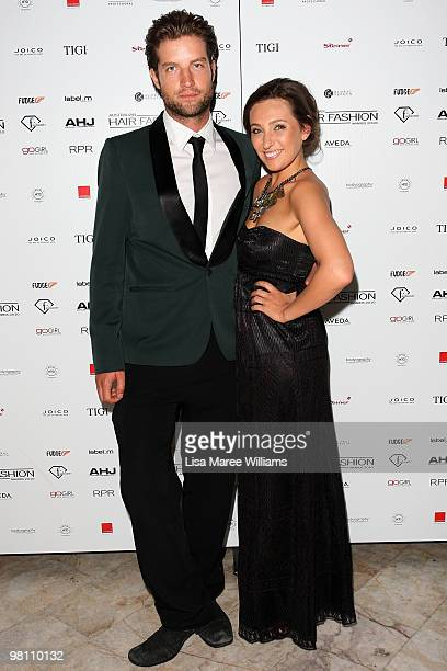 Axle Whitehead and Zoe Foster hosts arrive at the Australian Hair Fashion Awards at Sydney Town Hall on March 29 2010 in Sydney Australia