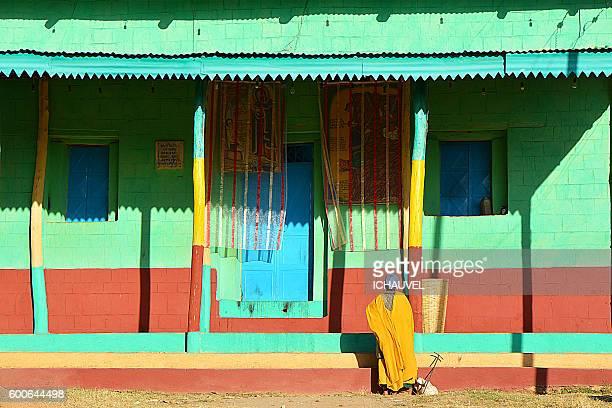 axum church ethiopia - axum stock photos and pictures