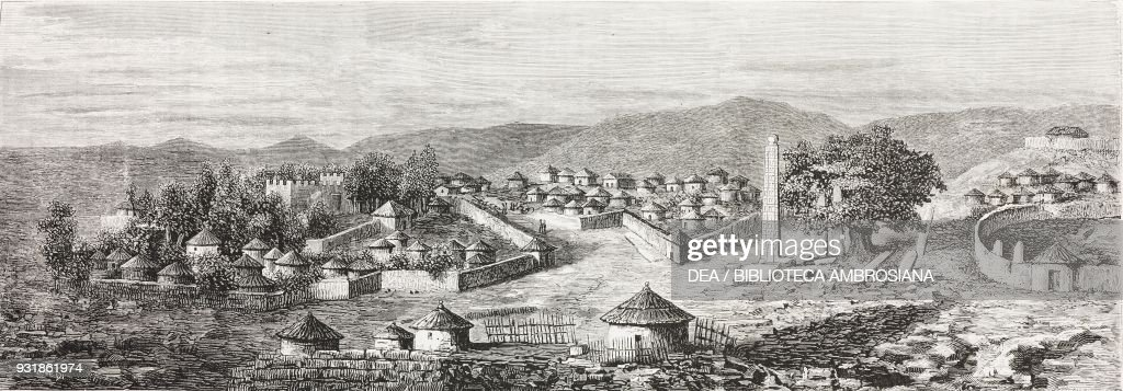 Axum The Rome Of Abyssinia View From East Pellegrino Matteuccis Expedition