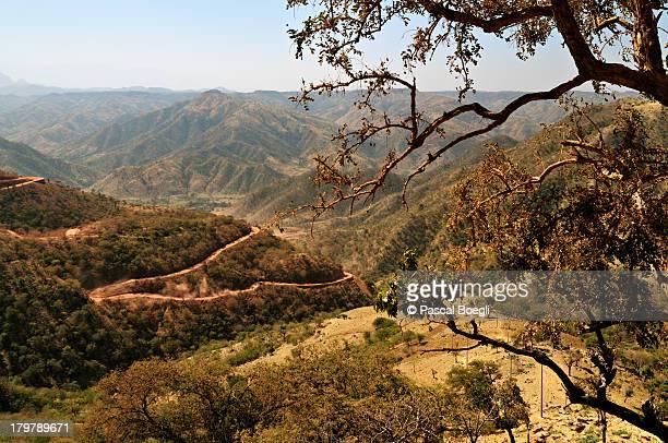 axum-debark road - ethiopia - axum stock photos and pictures