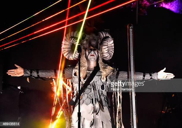 Axwell and Ingrosso perform onstage during day 2 of the 2015 Coachella Valley Music Arts Festival at the Empire Polo Club on April 11 2015 in Indio...