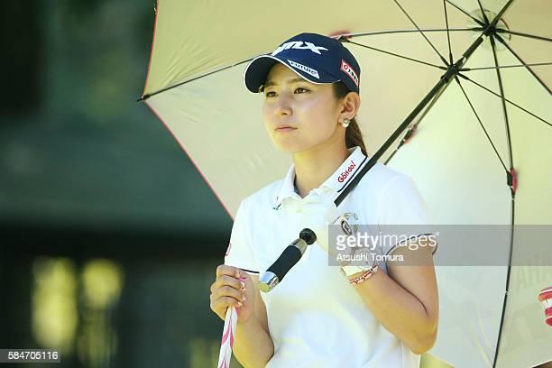 Aya Ezawa of Japan looks on during the second round of the Daito Kentaku Eheyanet Ladies 2016 at the Narusawa Golf Club on July 30 2016 in Narusawa...
