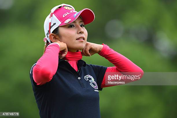 Aya Ezawa of Japan looks on during the third round of the Earth Mondamin Cup at the Camellia Hills Country Club on June 27 2015 in Sodegaura Japan
