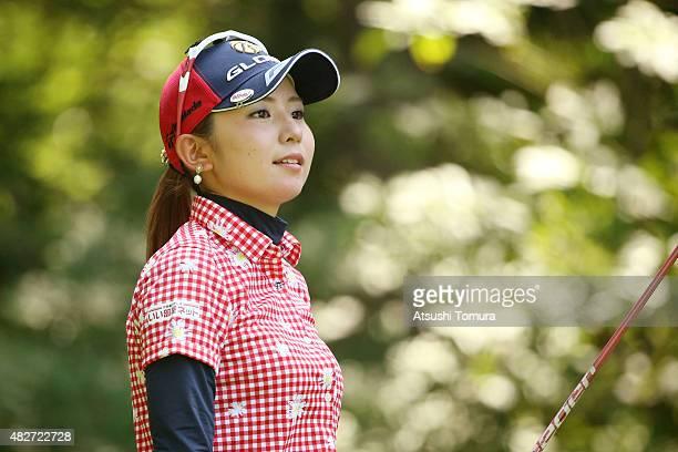 Aya Ezawa of Japan smiles during the final round of the Daito Kentaku Eheyanet Ladies 2015 at the Narusawa Golf Club on August 2 2015 in Narusawa...