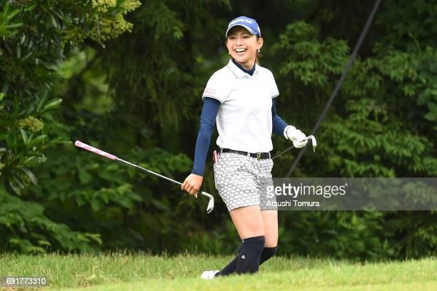 Aya Ezawa of Japan smiles during the final round of the Nichiiko Joshi Open at Yatsuo Country Club on June 3 2017 in Toyama Japan