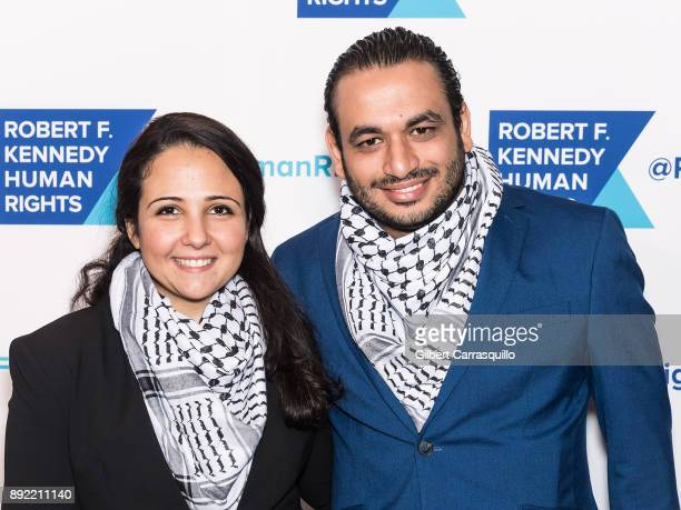 Aya Hijazi and Mohammad Hasanien attend Robert F. Kennedy Human Rights Hosts Annual Ripple Of Hope Awards Dinner at New York Hilton on December 13,...