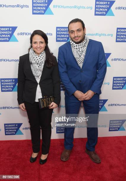 Aya Hijazi and Mohammad Hasanien attends Robert F. Kennedy Human Rights Hosts Annual Ripple Of Hope Awards Dinner on December 13, 2017 in New York...