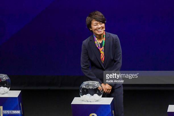 Aya Miyama of Japan during the Women's World Cup Draw 2019 at La Seine Musicale on December 8 2018 in Paris France