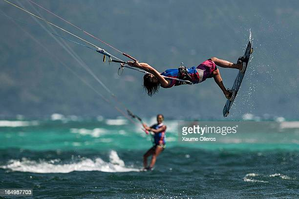 Aya Oshima of Japan competes on freestyle during day five of the KTA at Boracay Island on March 30 2013 in Makati Philippines