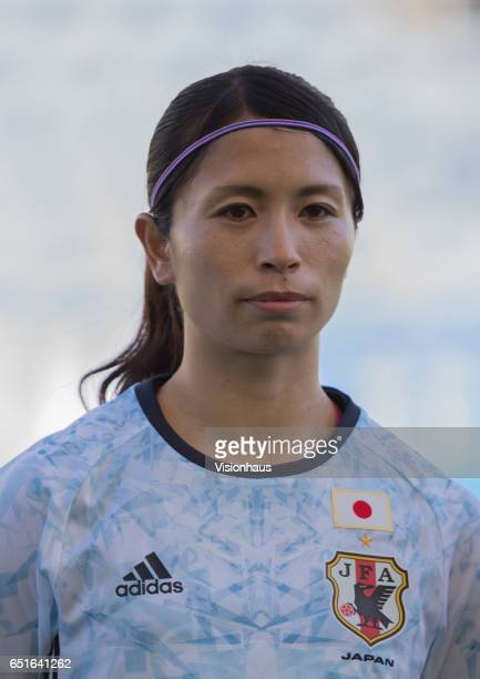 Aya Sameshima of Japan during the Fifth Place 2017 Algarve Cup match between Japan and The Netherlands at the Estadio Algarve on March 08 2017 in...