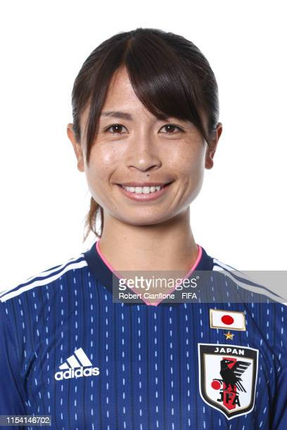 Aya Sameshima of Japan poses for a portrait during the official FIFA Women's World Cup 2019 portrait session at Hotel Barriere L'Hotel du Lac on June...