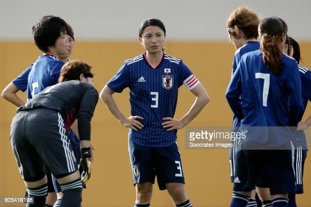 Aya Sameshima of Japan Women during the Algarve Cup Women match between Japan v Holland at the Estadio Municipal da Bela Vista on February 28 2018 in...