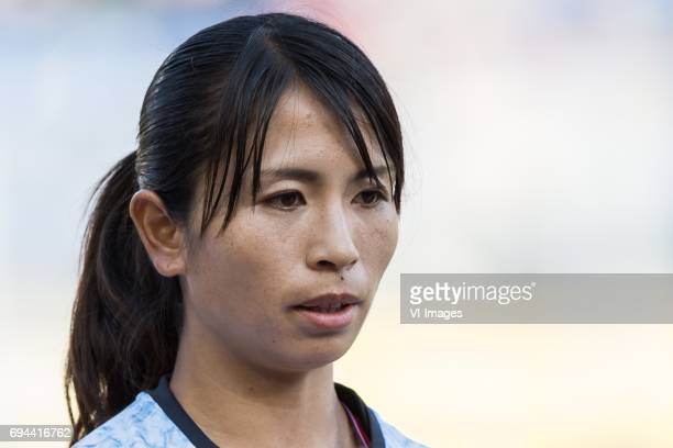 Aya Sameshima of Japanduring the friendly match between the women of The Netherlands and Japan at the Rat Verlegh stadium on June 9 2017 in Breda The...