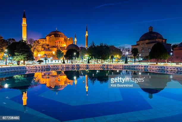 Aya Sofya from Sultan Ahmet park in Istanbul