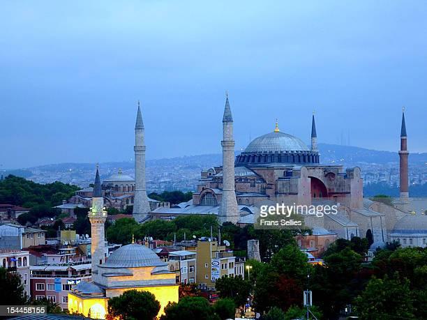aya sophia (istanbul) early in the morning - frans sellies stockfoto's en -beelden