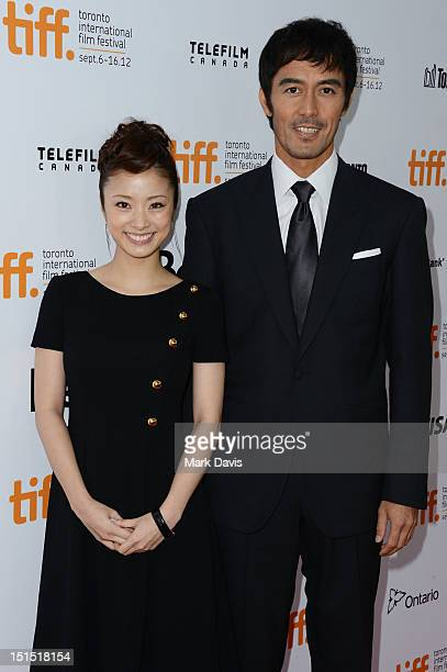 Aya Ueto and Hiroshi Abe attend the 'Thermae Romae' premiere during the 2012 Toronto International Film Festival at Roy Thomson Hall on September 8...