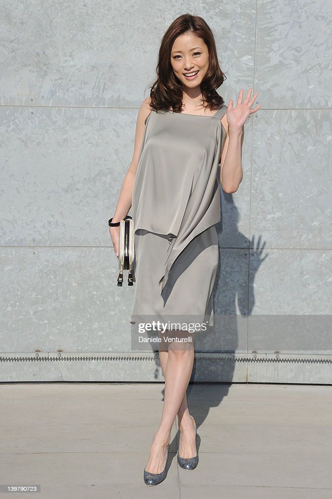 Aya Ueto attends the runway at the Emporio Armani Autumn/Winter 2012/2013 fashion show as part of Milan Womenswear Fashion Week on February 25, 2012 in Milan, Italy.