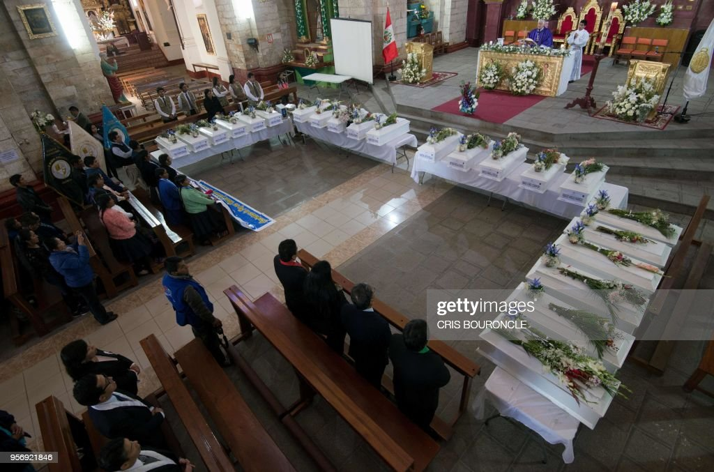 PERU-VIOLENCE-VICTIMS-FUNERAL : News Photo