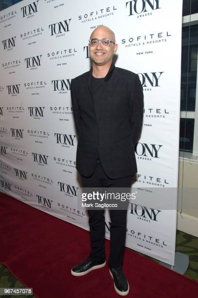 Ayad Akhtar attends the 2018 Tony Honors For Excellence In The Theatre and 2018 Special Award Recipients Cocktail Party at the Sofitel Hotel on June...