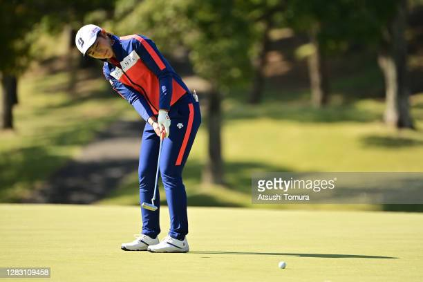 Ayaka Watanabe of Japan attempts a putt on the 5th green during the second round of the Hisako Higuchi Mitsubishi Electric Ladies Golf Tournament at...