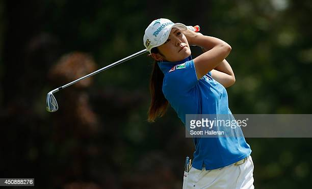 Ayaka Watanabe of Japan hits a shot during the first round of the 69th US Women's Open at Pinehurst Resort Country Club Course No 2 on June 19 2014...